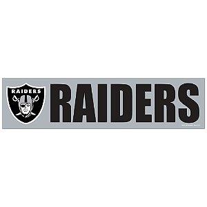 Adesivo Faixa Bumper Strip 30x7,5 Oakland Raiders