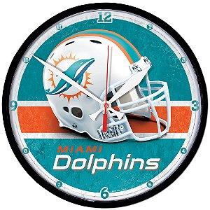Relógio de Parede NFL Miami Dolphins 32cm