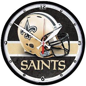 Relógio de Parede NFL New Orleans Saints 32cm