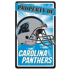 Placa Decorativa 18x30cm Carolina Panthers NFL