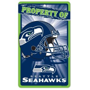 Placa Decorativa 18x30cm Seattle Seahawks NFL