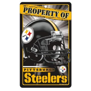 Placa Decorativa 18x30cm Pittsburgh Steelers NFL