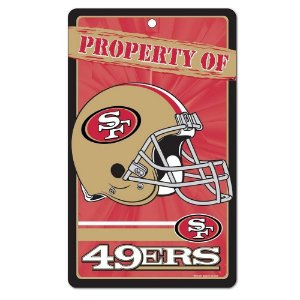 Placa Decorativa 18x30cm San Francisco 49ers NFL