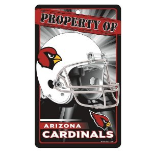 Placa Decorativa 18x30cm Arizona Cardinals NFL