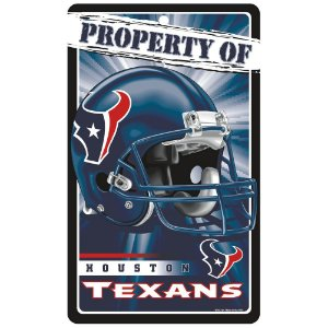 Placa Decorativa 18x30cm Houston Texans NFL