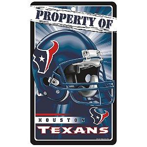 Placa Decorativa 18x30cm Houston Texans NFL