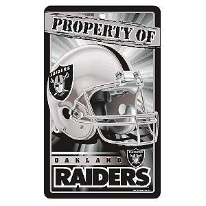 Placa Decorativa 18x30cm Oakland Raiders NFL