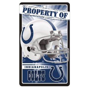 Placa Decorativa 18x30cm Indianapolis Colts NFL