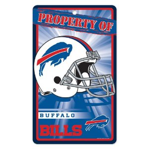 Placa Decorativa 18x30cm Buffalo Bills NFL