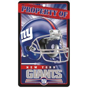 Placa Decorativa 18x30cm New York Giants NFL