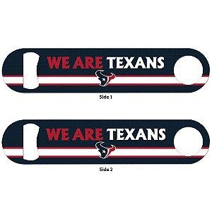 Abridor de Garrafas 2 Sided NFL Houston Texans