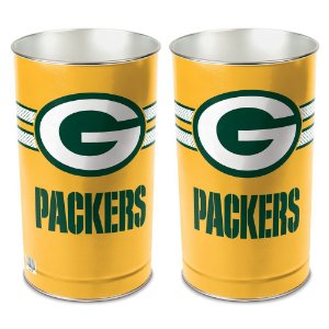Cesto de Metal Wastebasket 38cm NFL Green Bay Packers