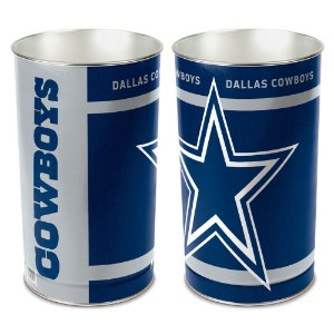 Cesto de Metal Wastebasket 38cm NFL Dallas Cowboys
