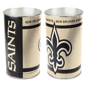 Cesto de Metal Wastebasket 38cm NFL New Orleans Saints