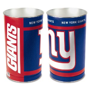 Cesto de Metal Wastebasket 38cm NFL New York Giants