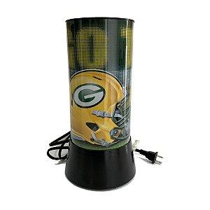Luminária Rotativa 30cm 120V NFL Green Bay Packers