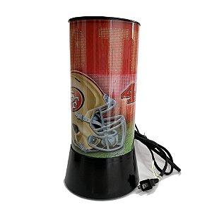 Luminária Rotativa 30cm 120V NFL San Francisco 49ers