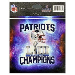 Adesivo Champion LIII New England Patriots NFL