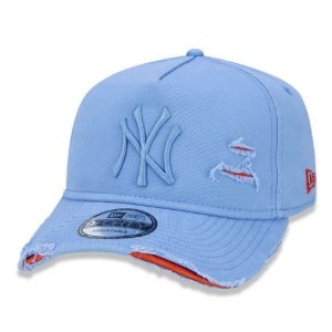 Boné New York Yankees 940 Damage Destroyed Azul - New Era