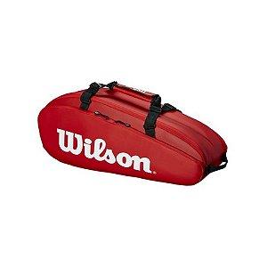 Raqueteira Wilson Tour 2 Comp X6 Dupla Vermelha Térmica
