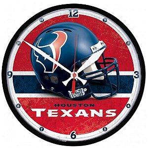 Relógio de Parede NFL Houston Texans 32cm