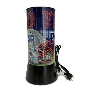 Luminária Rotativa 30cm NFL New England Patriots 120V