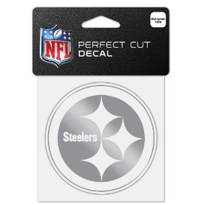 Adesivo Perfect Cut Decal Cromado NFL Pittsburgh Steelers
