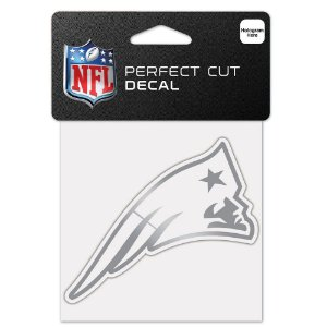 Adesivo Perfect Cut Decal Cromado NFL New England Patriots