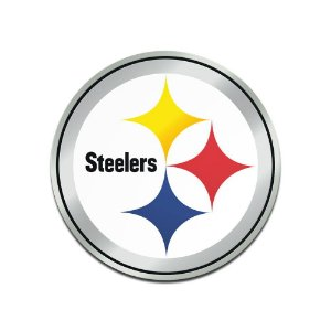 Auto Emblema Acrílico/Metal Pittsburgh Steelers NFL
