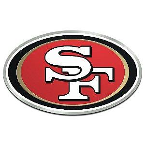 Auto Emblema Acrílico/Metal San Francisco 49ers NFL