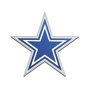 Auto Emblema Acrílico/Metal Dallas Cowboys NFL