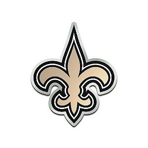 Auto Emblema Acrílico/Metal New Orleans Saints NFL