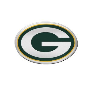 Auto Emblema Acrílico/Metal Green Bay Packers NFL