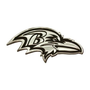 Auto Emblema Premium Metal Cromado Baltimore Ravens NFL
