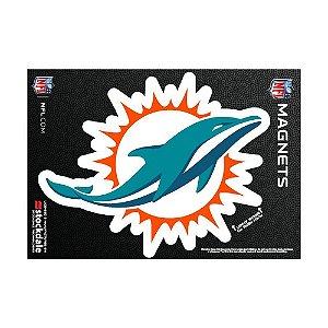 Imã Magnético Vinil 7x12cm Miami Dolphins NFL