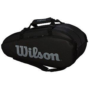 Raqueteira Wilson Tour 2Competition X9 Preto/Cinza