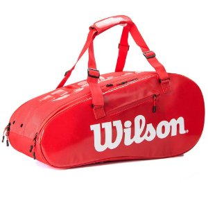 Raqueteira Wilson Super Tour 2 Competition X9 Vermelho