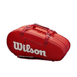 Raqueteira Wilson Super Tour 3 Competition X15 Vermelho