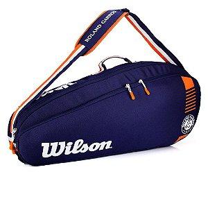 Raqueteira Wilson Roland Garros Tour 3Pk Azul/Marrom