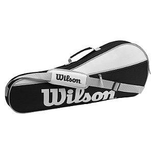 Raqueteira Wilson Advantage PRO 3 Pack Preto/Branco