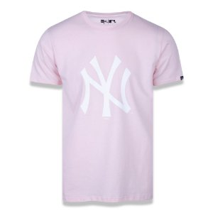 Camiseta New York Yankees Basica Tri Rosa - New Era