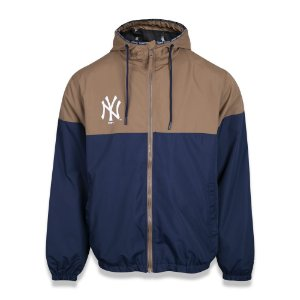 Jaqueta Quebra vento New York Yankees Alkaline Duo Marrom/Azul - New Era