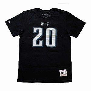 Camiseta NFL Philadelphia Eagles Player 20 Brian Dawkins Preto - M&N
