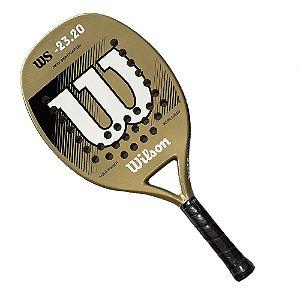 Raquete de Beach Tennis Wilson WS 23.20 Dourado