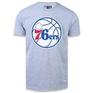 Camiseta NBA Philadelphia 76ers Big Logo Cinza