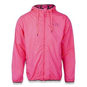 Jaqueta Quebra Vento Flúor NYC Pink - New Era