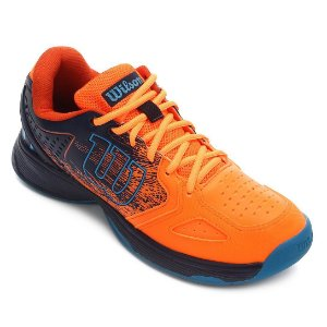 Tenis Wilson K Energy Masculino Laranja e Azul