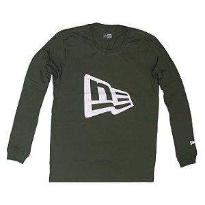 Camiseta Manga Longa Basic Duo Verde - New Era