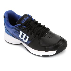 Tenis Wilson Ace Plus All Court Masculino Azul e Preto