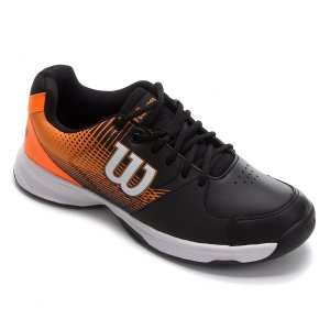 Tenis Wilson Ace Plus All Court Masculino Laranja e Preto